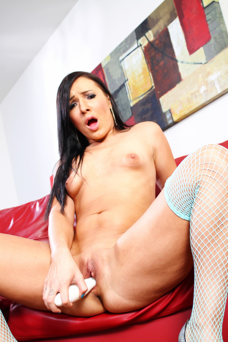 Ashli Orion Playing with Huge Sex Toys