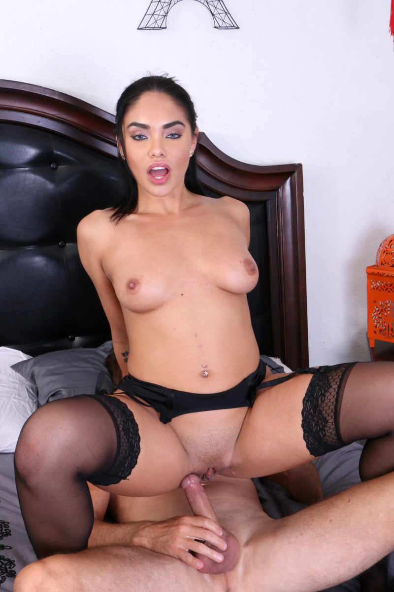 Selena Santana Fucks Her Step Bruther And Jerks Him Off On Her Big Tits