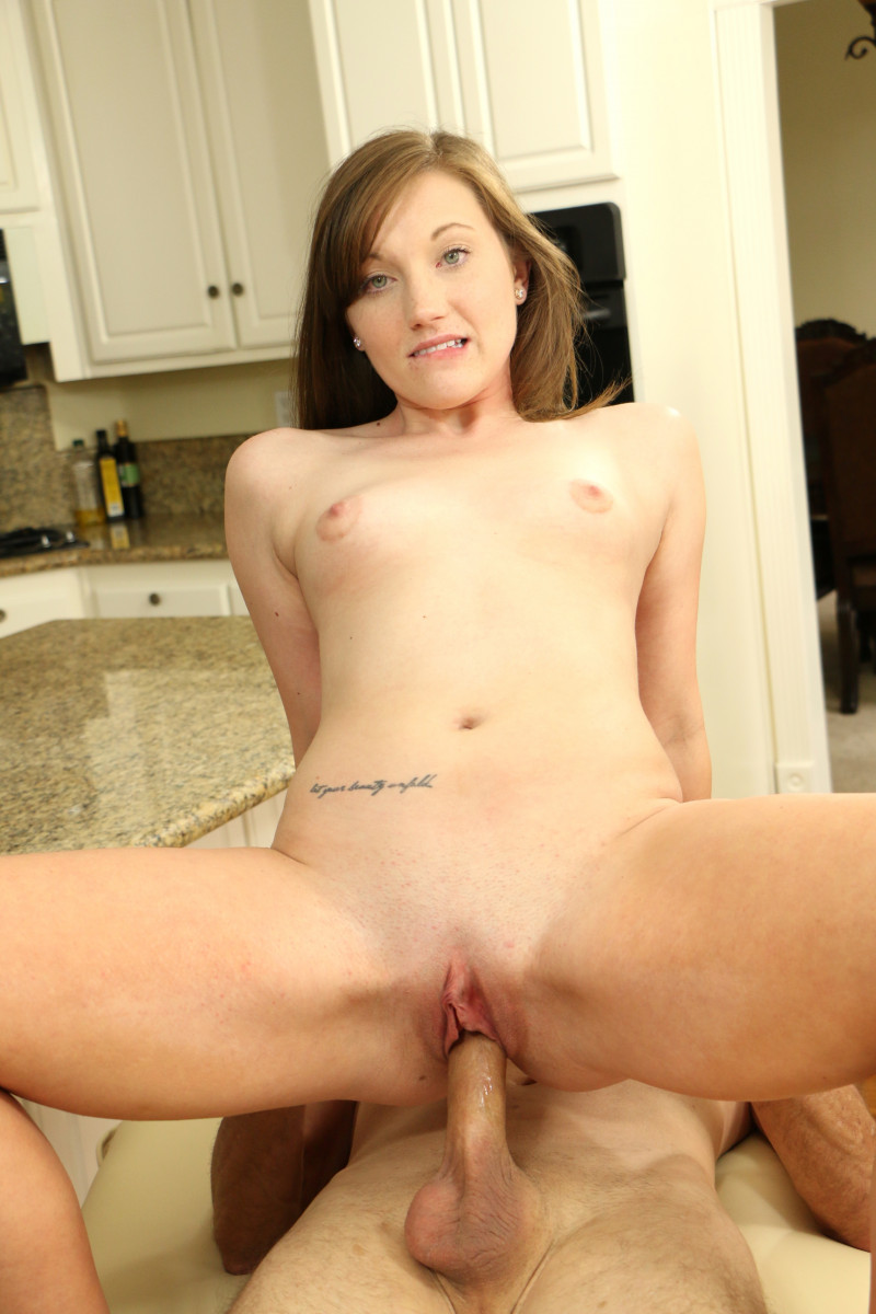 Taylor Madison Deepthroats Stepbro's Cock In The Kitchen