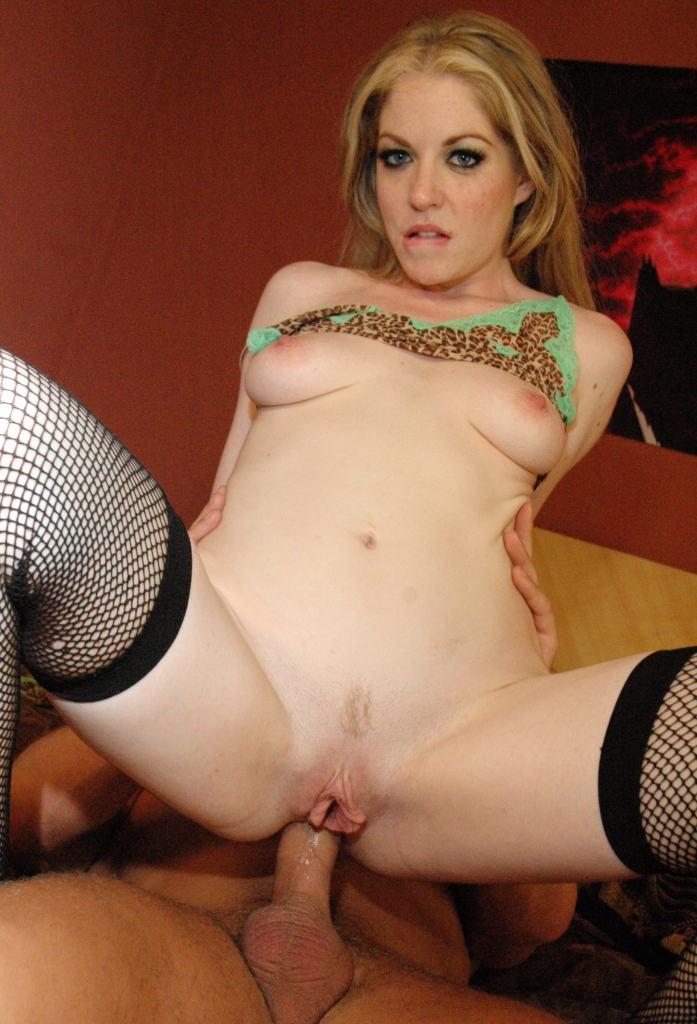 Haley Wears Fishnet Stockings And Takes A Stiff Prick In Her Tight Ass