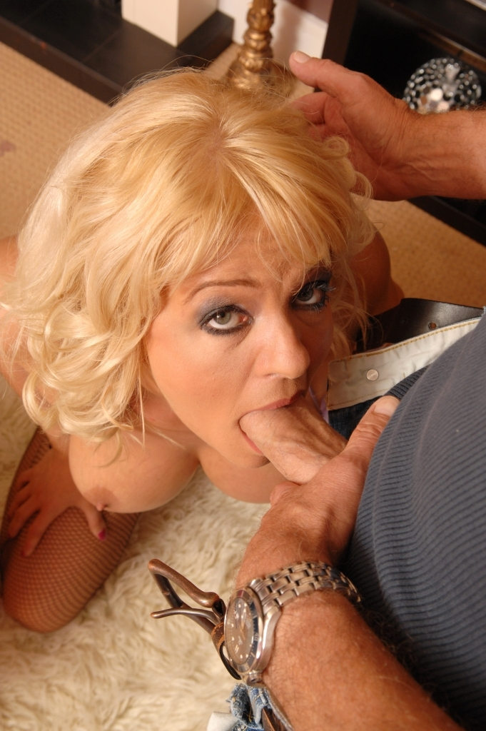 Mature Blonde Milf With Giant Tits Gets Fucked Up The Ass By An Older Man