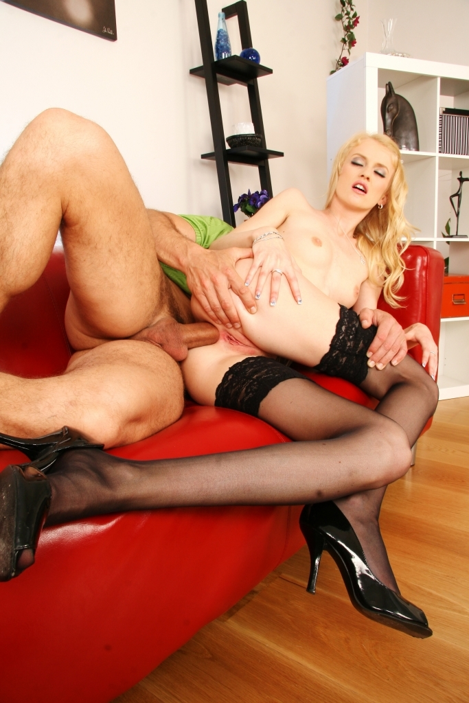 Kate Practically Crushes His Balls To Get His Cock Deeper In Her Ass